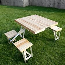 Folding Wooden Garden Table Kinbor Portable Folding Wooden Outdoor Picnic