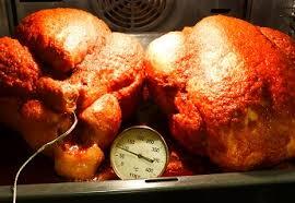 comment cuisiner un chapon au four dinde aux pommes et châtaignes cuisson basse température