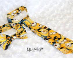 minion ribbon minion bow tie etsy