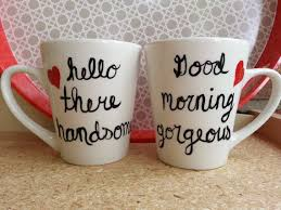 his and hers mug his and coffee mug hello there handsome morning