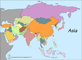 Asia Map by Outline Base Maps
