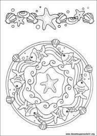 dolphins and sea stars mandala coloring pages coloring pages for