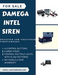 can volunteer firefighters have lights and sirens the new damega intel hand held is designed for volunteer