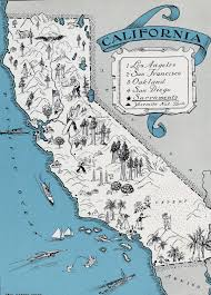 Map States Usa by Detailed Tourist Illustrated Map Of California State California