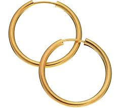 gold hoop earrings uk buy revere 9ct gold hoop earrings at argos co uk your online