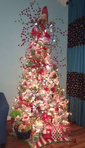 christmas tree red white and green whimsical candy theme