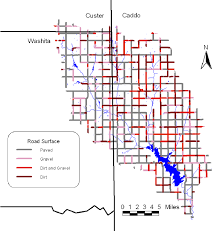 surface bureau figure 1 road surface conditions in the fort cobb basin derived from