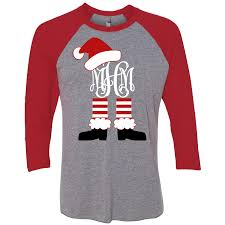 monogram christmas christmas shirt