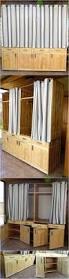 wooden pallets made dressing room idea pallet furniture