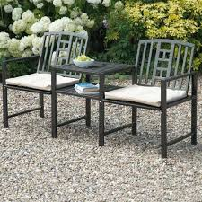 Outdoor Jack And Jill Chair by Gablemere Huntingdon Jack U0026 Jill Bench With Cushions Internet