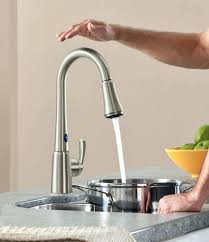 Touch Kitchen Faucet The Most No Touch Kitchen Sensor Faucet In Remodel Faucets Finest