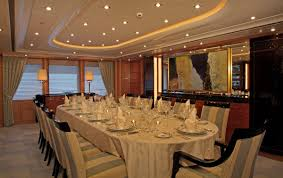 dining room image gallery u2013 luxury yacht browser by charterworld