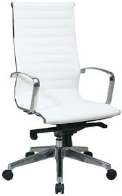 74023lt office star modern executive white eco leather