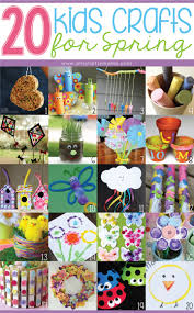 20 kids crafts for spring homeschool craft and spring