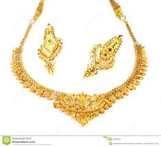 indian bridal jewelry necklace images Wedding gold necklace with earrings stock image image of gift jpg