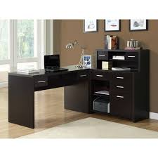 overstock l shaped desk cappuccino l shaped desk free shipping today overstock