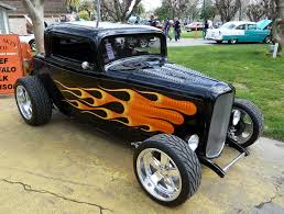 classic cars with flames 1936 model chevrolet coupe black