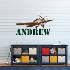 Airplane Kids Room by Airplane Wall Decal Personalized Airplane Nursery Airplane Decor