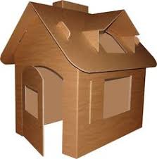 a fun cardboard playhouse the lunchbox memoirs pinterest