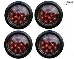 led lights for trucks and trailers 4 red round 5 flush mount stop turn led light truck trailer clear