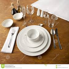 How Do You Set A Table by Table Set Up Stock Images Image 15038054