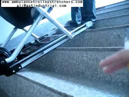 automatic stair chair emergency stair stretcher youtube