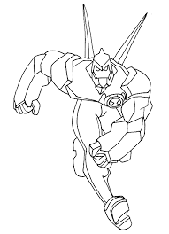 animations 2 coloring pages ben 10