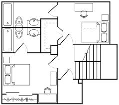 Public Bathroom Floor Plan by Asu Villas At Vista Del Sol Arizona State University