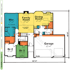 Single Garage Size by One Story House Home Floor Plans Single Story Floor Plans Swawou