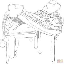 nike sneakers coloring page free printable coloring pages