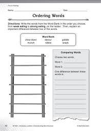 vocabulary ladders understanding word nuances grade 3 sep51302