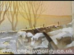 winter in wensleydale watercolour demonstration by peter woolley