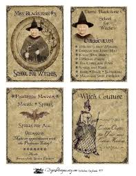 vintage halloween witch u0027s daybook printable digital download from