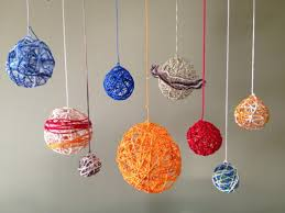 solar system projects mini clay paper mache and yarn