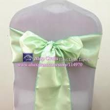 mint chair sashes 100pcs mint green banquet chair bow tie satin chair sashes for