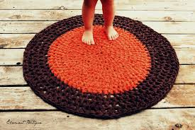 gray crochet rug round shape cotton yarn material soft texture full size of decoration gorgeous round crochet rag rug cotton yarn material soft and washable