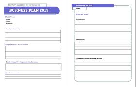 blank business plan template word trend markone co