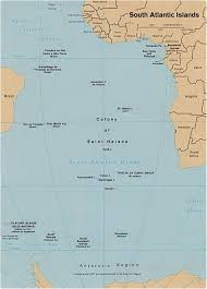 map of the islands map of the south atlantic islands