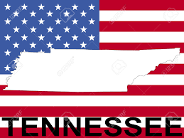 Tennessee On The Map by Map Of Tennessee On American Flag Illustration Stock Photo