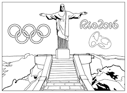 free coloring page coloring rio 2016 olympic games christ