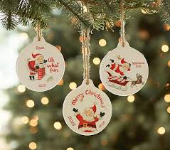 personalized ornaments christmas sentiment personalized ornaments pottery barn kids