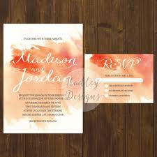 Affordable Wedding Invitations With Response Cards Hadley Designs Watercolor