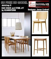 sketchup texture free sketchup 3d models oak chairs and stool 7
