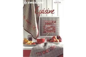 broderie cuisine livre zweigart n 294 modèles de broderie cui