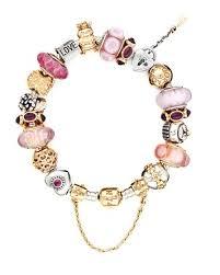 pandora bracelet sterling silver images Pandora bracelet sterling silver with pink gold charms tif