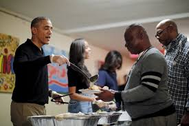 president obama serves others on thanksgiving character and leadership
