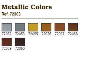 game color box set 8 paints 17ml metallic colors