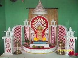 Home Decoration Of Ganesh Festival by Thoughts Spot