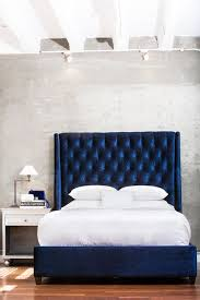 Blue Bed Frame Home Industrial Design Industrial Blue Headboard And