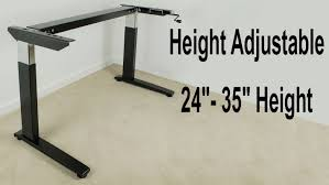 Electric Height Adjustable Desk Frame by Hafele Crank Height Adjustable Table Base Heavy Duty Youtube